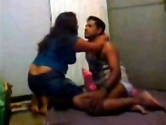 Desi Indian Wife Three sum with Hubby and His