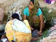 Indian Village Doll Stagged In Outdoor Hidden