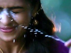 cum on sri divya face again and again tamil actress