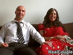 Desi Indian is pounded firm by husband