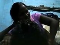 Desi Widow Grannie Aunty porked by her lover (Hindi Audio)