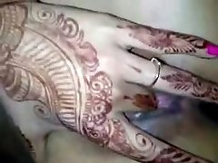 Indian Married Girl Fingerblasting in first-ever night