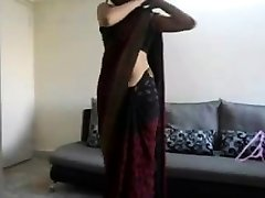 Indian teenager shows off her body