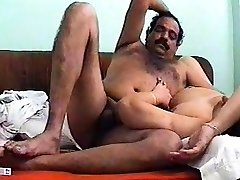 A young Indian couple porks on camera