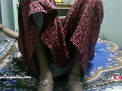 desi telugu indian village couple wife naked nailed on floor