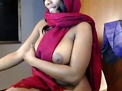 indian babe teases and getting off on