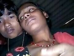 indian ebony village collage girl with her bf