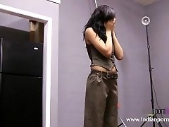 Natasha Indian College Woman Striptease Show