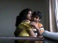 Desi boyfriend frolicking with tasty boobs of his girlfriend