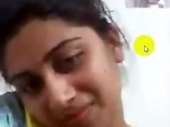 desi collage damsel getting off on Skype for her boyfriend