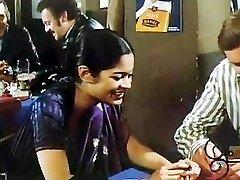 Indian nymph in 80s German porn movie