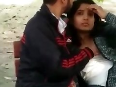 Indian Covert Blow-job And Boobs Press In Park