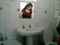 Indian lady shower spy