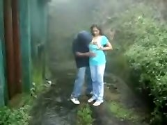 British Indian duo fuck in rain storm at hill station