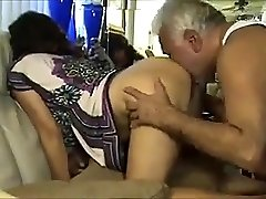 Dirty Older Uncle Fucks & Gobbles Wooly Indian Lady's Ass