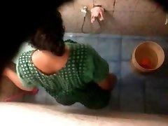 Indian Bhabhi Voyeur Bathroom