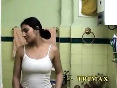 Mature Indian MILF Masturbating In Bathroom Fucking Her Beaver