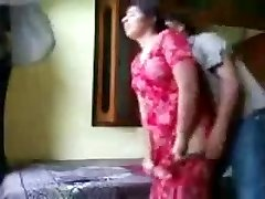 Indian duo enjoying in a hotel room