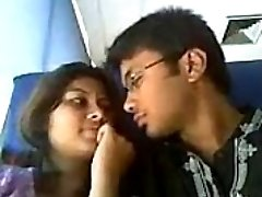 Indian lovers hot lip kiss