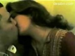 indian punjabi nymph kisses and gives blowjob