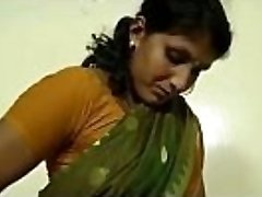 An indian mallu super-steamy neighbour bhabhi teaching how to wear saree
