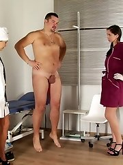 Strong patient subdued by slim nurses