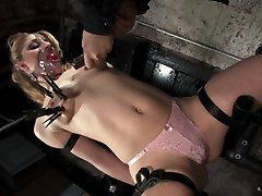 Sara Faye endures a gauntlet of devilish devices and situations, starting with a tight hogtie...