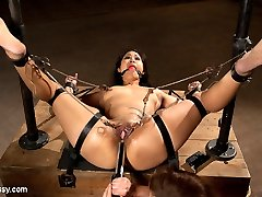 Dragonlily returns to Wiredpussy for more bondage, electricity, foot torture, sole worship, and HARD ejaculations!