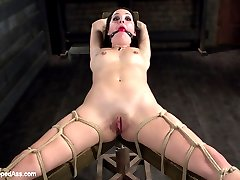 Marley Blaze wants to make a naughty video for her husband. She goes to an agency that helps couples make private sexy videos. Marley thinks that this will consist of a cute strip tease and some dirty talk but manager, Cherry Torn has something else in mind. Marley is subjected to lesbian BDSM with hot bondage, foot worship, face sitting, spanking and strap-on fucking!