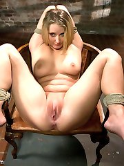 Natalie Nortan becomes a grateful submissive after James Deen works her over with pain, bondage...