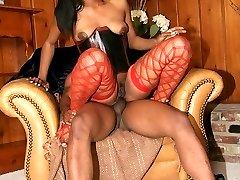 Horny ebony Dream flaunts her sexy body outdoors before she gets fucked hard inside
