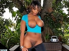 Big round black booty babe lauren shakes at the pool then gets her black ass love box pounded hard in these wet movies
