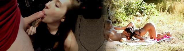 Schlucken Ebenholz Mädchen Deepthroat 33 ABSOLUT