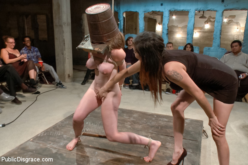 Lesbian Redhead Tied Up