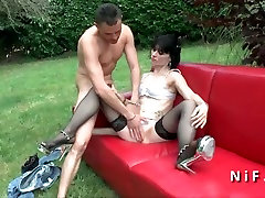 Small titted french darma dick see russians 69 fucked outdoor