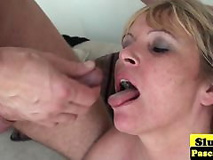 Old british banana teacher dominated over and plowed