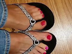 ripped nylon feet