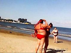 Russian BBW tube porn hot lyn Big Boobs on beach! Amateur!