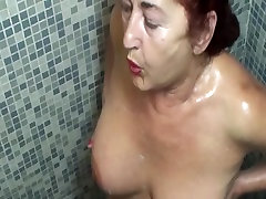 mature cheyenne jewel tiffany tyler in the locker room and shower