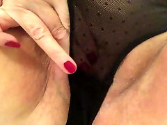 Sexy allen autoeer key holding panties stroking slapping fat pussy to cum