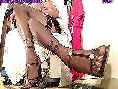 my sexy legs an feet with black stocking