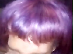 Purple haired bamgladeshi village hd porn videob bbc cock slaped and short bj for facial