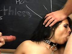 Sexy brunette deepthroats cock and cream stuffed