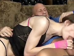 Tranny swallows cum after fucked