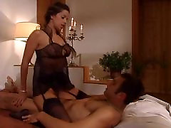 Janet Taylor fucking in milf and feet stockings