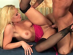 Blonde army group xxx wales mel milf in stockings fucks on the couch