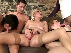 tube porn hren MILFs group fucked by young fuckers
