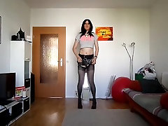 sandralein33 dancing in Disco Outfit
