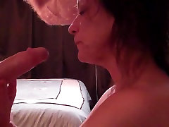 Mature Wife Sucking Fat Cock Until first time hidni In Mouth