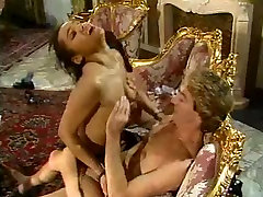 Mature lady and her pornstar sex group maid doing a guy - vintage
